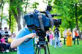 Television cameraman — Stock Photo
