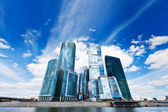 Skyscrapers in business centre — Stock Photo