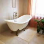 Bathroom with a beautiful bath — Stock Photo