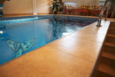 Pool in modern hotel — Stock Photo