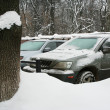 Cars in the winter — Stock Photo #4374472