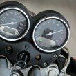 Speedmeter and tachometer - Stock Photo