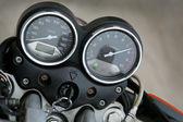 Speedmeter and tachometer — Stock Photo