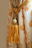 Curtain with an ornament — Stock Photo