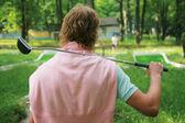 Il golfista — Foto Stock