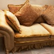 Stock Photo: Sofa with soft pillows