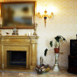 Beautiful marble fireplace — Stock Photo