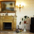 Beautiful marble fireplace — Stockfoto
