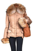 Female jacket and bag — Stock Photo