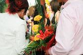 Bright bouquet flowers — Stock Photo