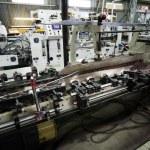 Work of the conveyor — Stock Photo