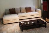 Beautiful sofa with pillow — Stock Photo