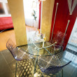 Glass a table and chairs — Photo