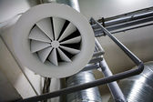 System of ventilating pipes — Stock Photo