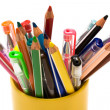 Color pencils and pens — Stock Photo #4532401