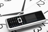 Phone and clock — Stock Photo