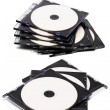 Disk cd in boxes — Stock Photo