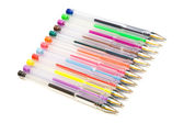Color ballpoint pens — Stock Photo