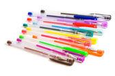 Color ballpoint pens — Zdjęcie stockowe