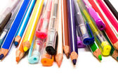 Color pencils and pens — Stock Photo