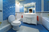 Blue bathroom — Stock Photo
