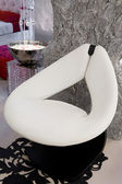 White leather armchair — Stock Photo