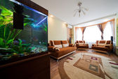 Aquarium in a room — Stock Photo