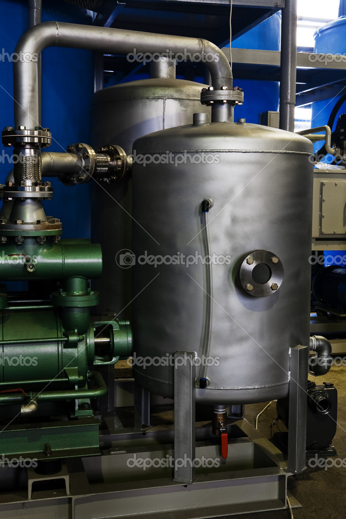 Powerful and modern equipment at the plant — Stock Photo #4564462
