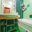 Green bathroom - Stockfoto