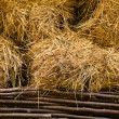 Stock Photo: Hay at haylofts