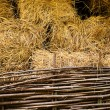 Hay at haylofts — Stock Photo