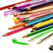 Stock Photo: Pencils and pens