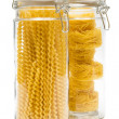 Pasta in glass jar — Stock Photo #4948856