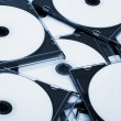 Disks in boxes — Stock Photo