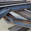 Welded metal beams — Stock Photo