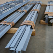 Stock Photo: New metal beams