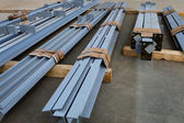 New metal beams — Stock Photo