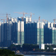 Construction of new buildings — Stock Photo