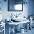 Bathroom in an apartment — Foto Stock