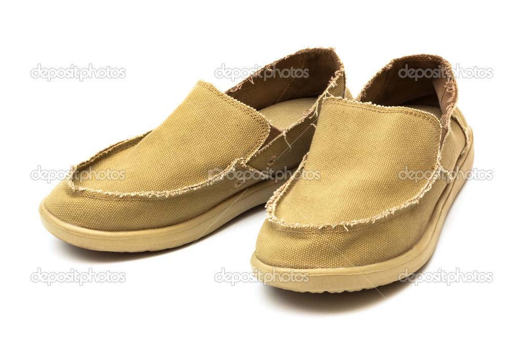 Tarpaulin new moccasins on a white background — Stock Photo #5131926