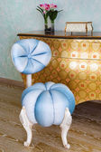 Beautiful blue chair — Stock Photo