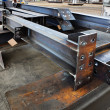 Metal beams - Stock Photo