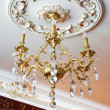 Stock Photo: Beautiful bronze chandelier