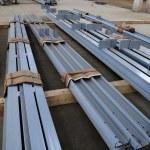 New welded metal beams — Stock Photo