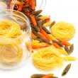 Pasta in glass jar — Stock Photo #5224441