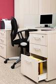 Workstation con un computer — Foto Stock