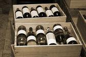 Wine in bottles — Stock Photo