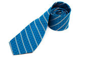 Turquoise tie close up — Stock Photo