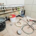 Repair in the bathroom — Stock Photo #5326551