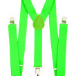 Green suspenders — Stock Photo